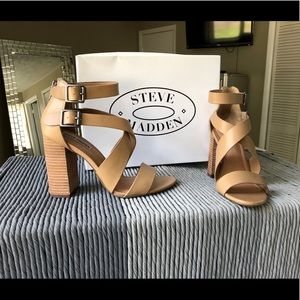 Steve Madden Sundance stacked chunky heels shoes